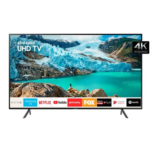 "Samsung Smart TV UHD 4K  UN50RU7100 50"", Controle Remoto Único e Bluetooth"