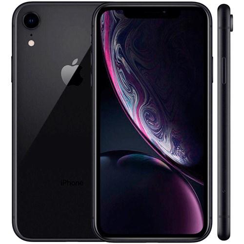 "Smartphone Apple iPhone XR 64GB Preto - Tela 6.1"" Câm. 12MP + Selfie 7MP iOS 13"