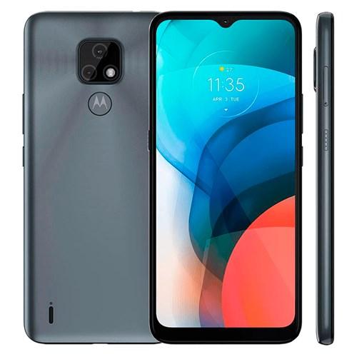 "Smartphone Motorola Moto E7 64GB Cinza 4G - 4GB RAM Tela 6,5"" Câm. Selfie + Câm. Dupla 48 Mp + 2 Mp"