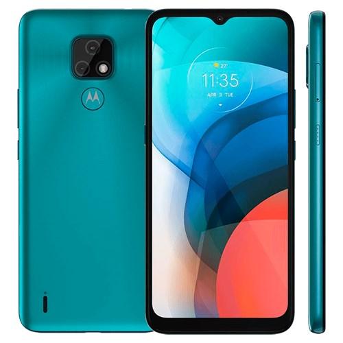 """Smartphone Motorola Moto E7 Aquamarine 4G - Tela 6,5"""" Câm. Selfie + Câm. Dupla 48 Mp + 2 Mp"""