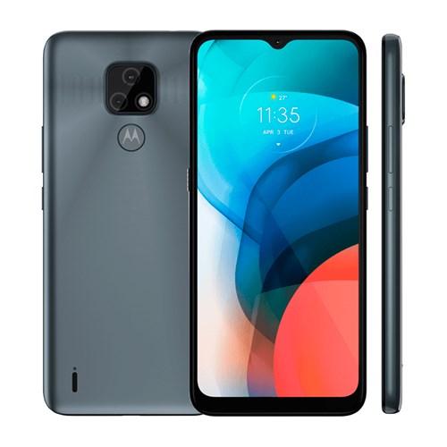 """Smartphone Motorola Moto E7 Cinza Metálico 4G - Tela 6,5"""" Câm. Selfie + Câm. Dupla 48 Mp + 2 Mp"""