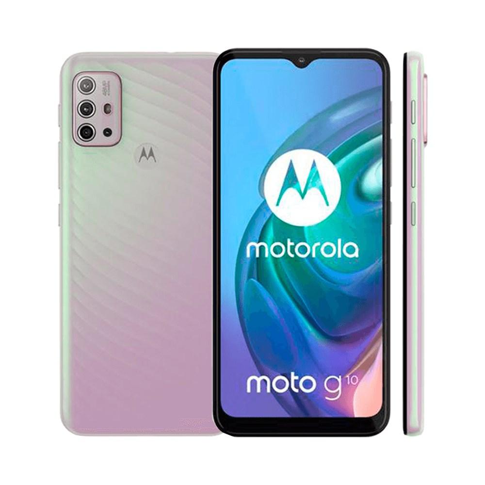 "Smartphone Motorola Moto G10 64GB Branco Floral 4G - Tela 6,5"" Câm. Quádrupla + Selfie 8MP"