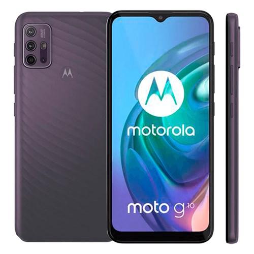 "Smartphone Motorola Moto G10 Cinza 4G - Tela de 6,5"" Câm. 48MP + Câm Selfie 8MP"