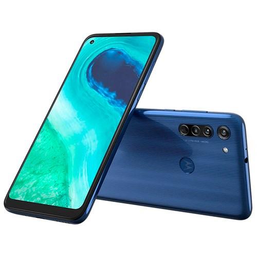 "Smartphone Motorola Moto G8 64GB Azul 4G - 4GB RAM Tela 6,4"" Câm. Tripla + Câm. Selfie 8MP"