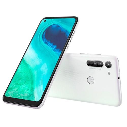 "Smartphone Motorola Moto G8 64GB Branco 4G - 4GB RAM Tela 6,4"" Câm. Tripla + Câm. Selfie 8MP"