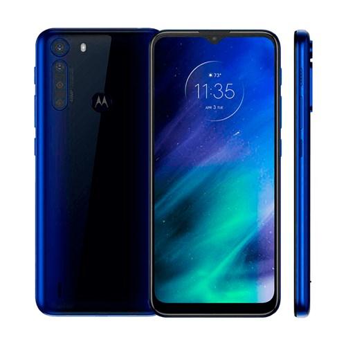 "Smartphone Motorola One Fusion 128GB Azul Safira 4G - 4GB RAM Tela 6,5"" Câm. Quádrupla + Selfie 8MP"