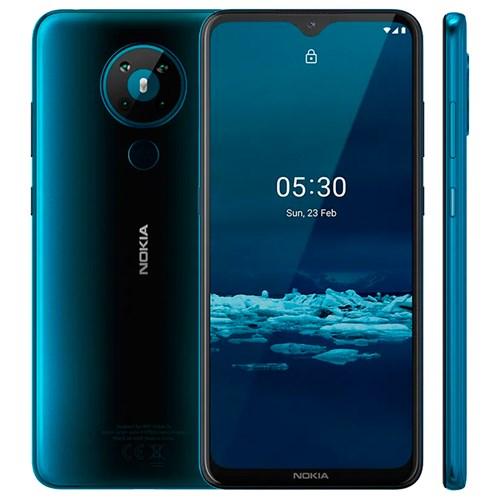 """Smartphone Nokia 5.3 NK009 128GB Verde 4G - 4GB RAM Tela 6,55"""" Câm. Quádrupla + Selfie 8MP"""