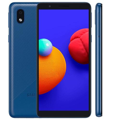 "Smartphone Samsung Galaxy A01 Core 32GB Azul 4G - 2GB RAM Tela 5.3"" Câm. 8MP + Câm. Selfie 5MP"