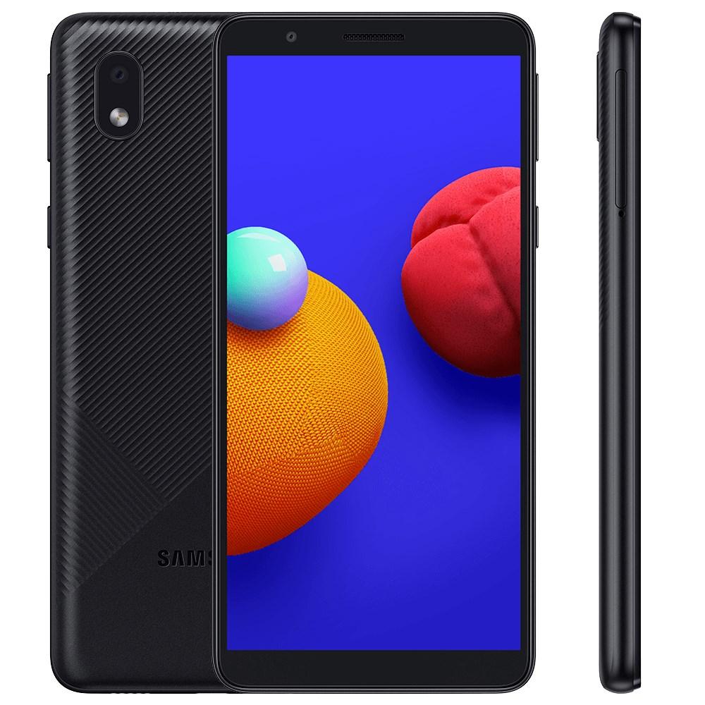 """Smartphone Samsung Galaxy A01 Core 32GB Preto 4G - 2GB RAM Tela 5.3"""" Câm. 8MP + Câm. Selfie 5MP"""