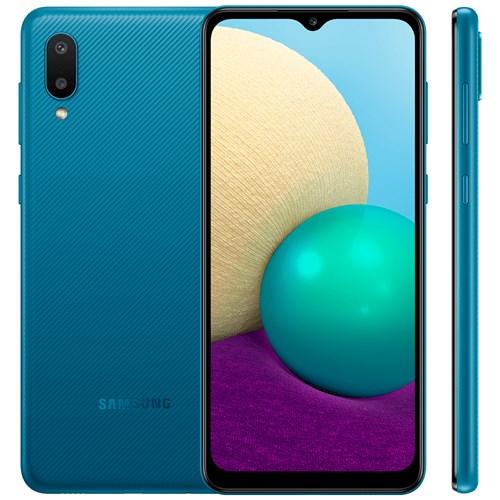 """Smartphone Samsung Galaxy A02 32GB Azul - 2GB RAM Tela 6.5"""" Câm. 13MP + 2MP"""
