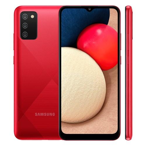 "Smartphone Samsung Galaxy A02S 32GB Vermelho - 3GB RAM Tela 6.5"" Câm. 13Mp + 2Mp + 2Mp"