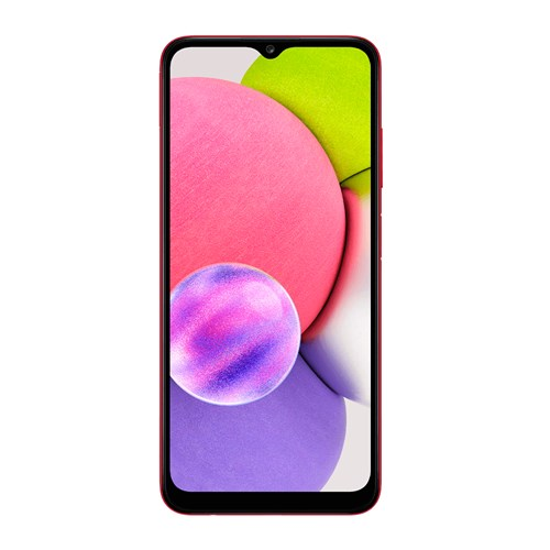 "Smartphone Samsung Galaxy A03S 64GB Vermelho 4G - 4GB RAM Tela 6,5"" Câm. Tripla + Selfie 5MP"
