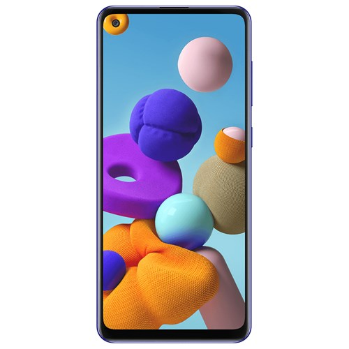 """Smartphone Samsung Galaxy A21S 64GB Azul 4G - 4GB RAM Tela 6,5"""" Câm. Quadrupla + Câm. Selfie 13MP"""