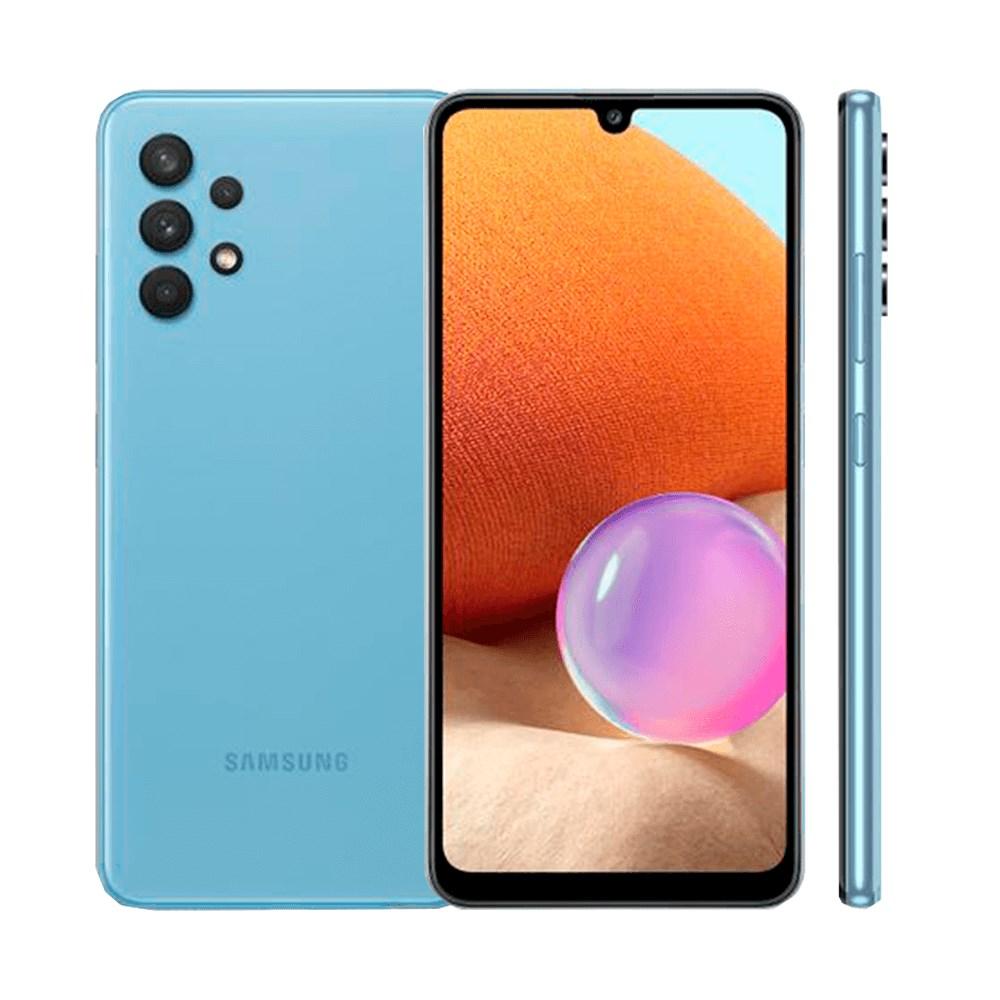 "Smartphone Samsung Galaxy A32 128GB Azul 4G - 4GB RAM Tela 6,4"" Câm. Quádrupla + Selfie 20MP"