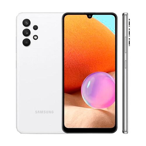 "Smartphone Samsung Galaxy A32 128GB Branco 4G - 4GB RAM Tela 6,4"" Câm. Quádrupla + Selfie 20MP"
