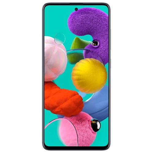 "Smartphone Samsung Galaxy A51 128GB Branco 4G - 4GB RAM Tela 6,5"" Câm. Quadrupla + Câm. Selfie 32MP"
