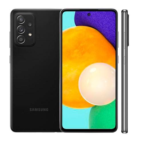 "Smartphone Samsung Galaxy A52 128GB Preto 4G - 6GB RAM Tela 6,5"" Câm. Quádrupla + Selfie 32MP"
