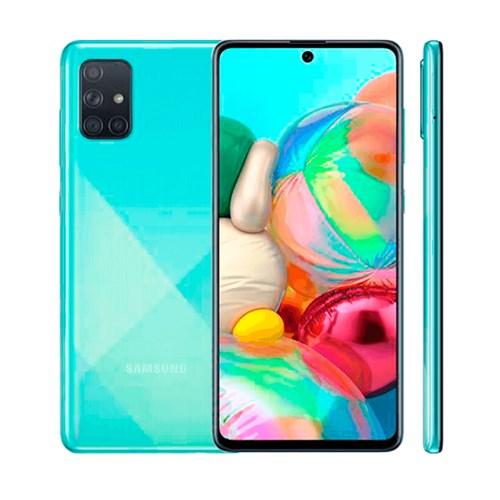 """Smartphone Samsung Galaxy A71 128GB Azul 4G - 6GB RAM Tela 6,7"""" Câm. Quadrupla + Câm. Selfie 32MP"""