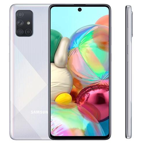 "Smartphone Samsung Galaxy A71 128GB Cinza 4G - 6GB RAM Tela 6,7"" Câm. Quadrupla + Câm. Selfie 32MP"