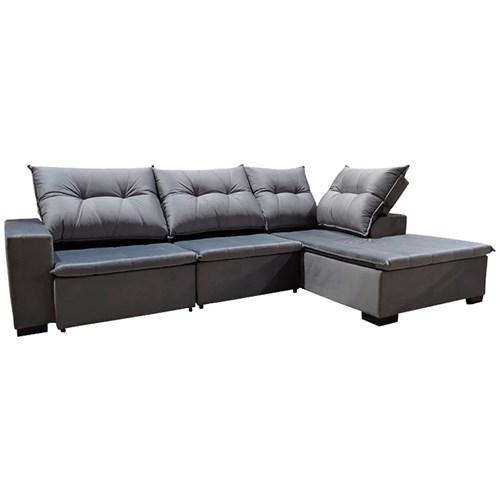 Sofá Confort Canto Lux  - Cinza V041