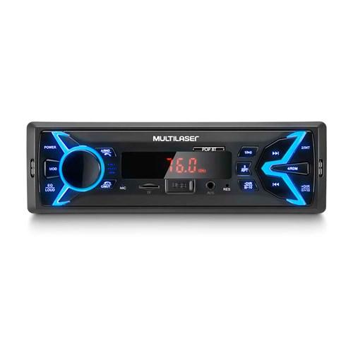 Som Automotivo Multilaser Pop BT Bluetooth P3336 - MP3 Player USB Micro SD