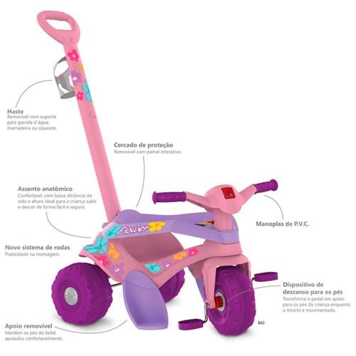 Triciclo Motoka Gatinha Passeio & Pedal 842 - Bandeirante