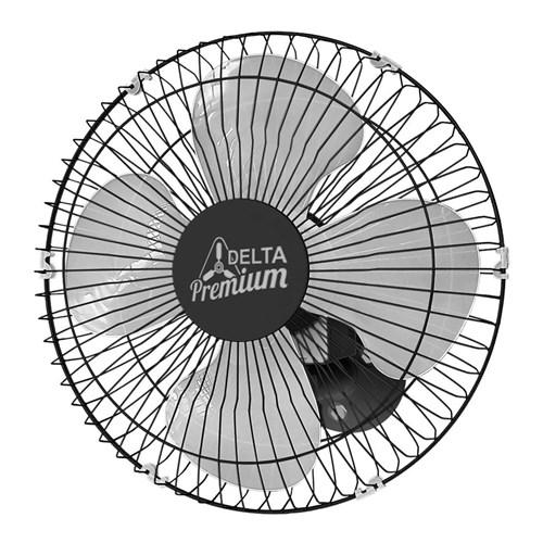 Ventilador de Parede Venti-Delta Premium 50cm - Preto Velocidade Rotativa Bivolt